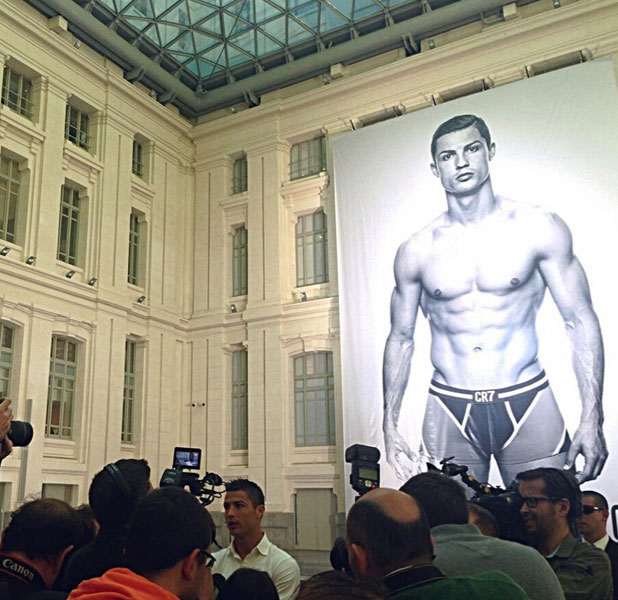 Cristiano Ronaldo launches his CR7 by Cristiano Ronaldo Underwear range, Madrid, Spain - 31 Oct 2013