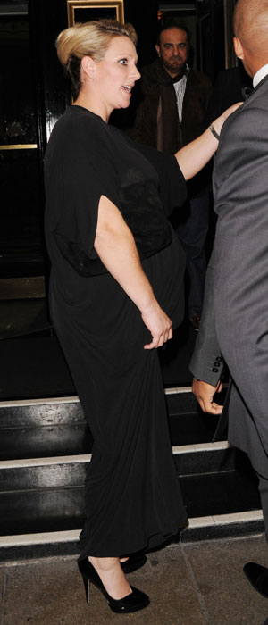 Zara Phillips leaving the Dorchester Hotel, 30 October 2013
