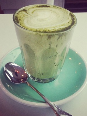 Millie Mackintosh Instagrams picture of her healthy Matcha latte, 6.11.13