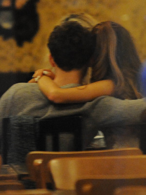 Ariana Grande and Nathan Sykes out on a dinner date at Manna in Primrose Hill after Ariana's secret gig at Rise Club. 7.11.13