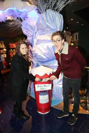 Tom Fletcher and wife Giovanna attend Disney Store's Share in the Magic charity campaign in London - 6.11.2013