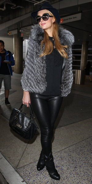 Paris Hilton arrives at LAX Airport in Los Angeles, 4 November 2013