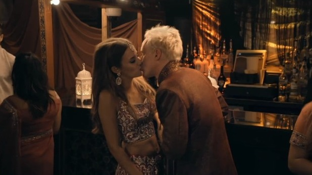 Made In Chelsea (Monday 28th September) Jamie Laing and Lucy Watson kiss.