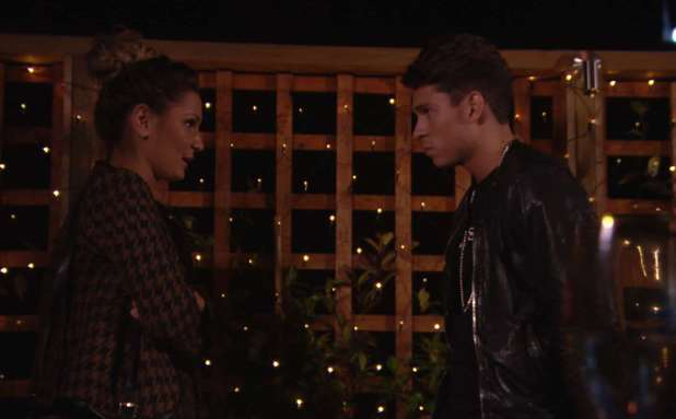 Sam Faiers confronts Joey Essex over their relationship. The Only Way Is Essex / TOWIE - 6 November 2013.
