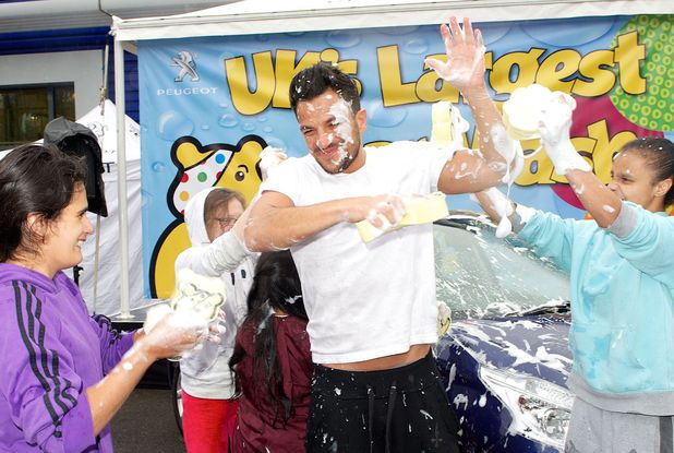 Peter Andre and Pudsey Launch UK's Largest Car Wash with proceeds going to BBC Children in Need, London, Britain - 06 Nov 2013