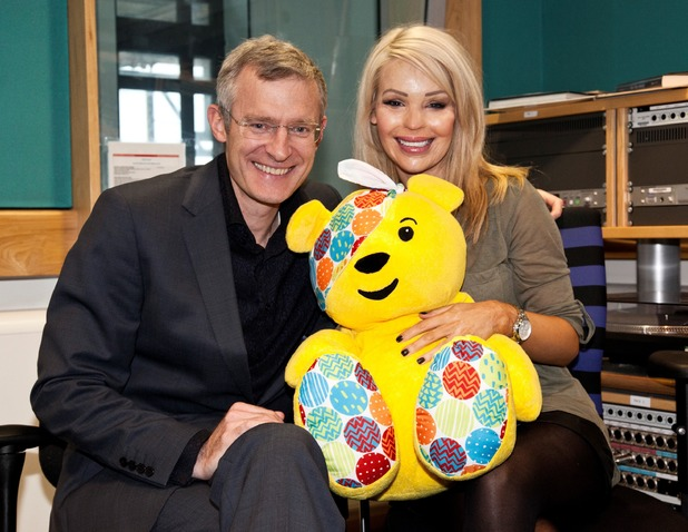 Jeremy Vine interviews Katie Piper on for BBC Radio Two project, all in aid of BBC Children In Need.