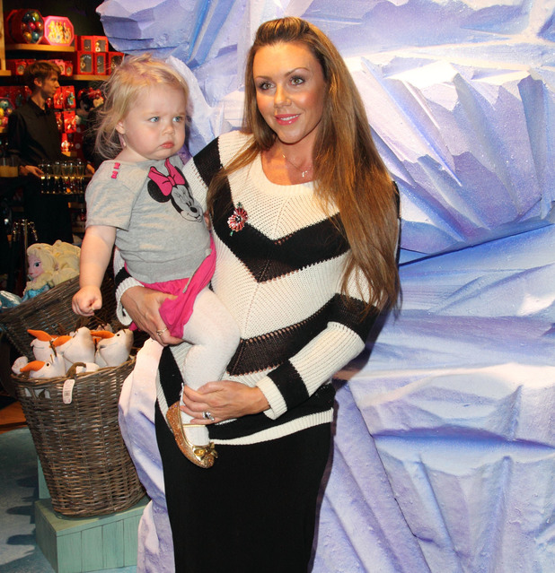 Michelle Heaton and baby Faith at the Disney Store launch for its annual Share in the Magic charity campaign at their Oxford Street Store to support The Great Ormond Street Hospital Children's Charity.