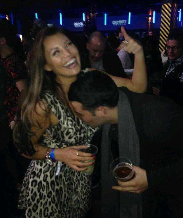 TOWIE's Jess Wright and Ricky Rayment kiss at O2 Aren - 4.11.2013