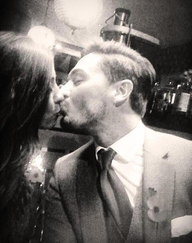 Mario Falcone kisses girlfriend Pascal Craymer after dinner. (7 November 2013)
