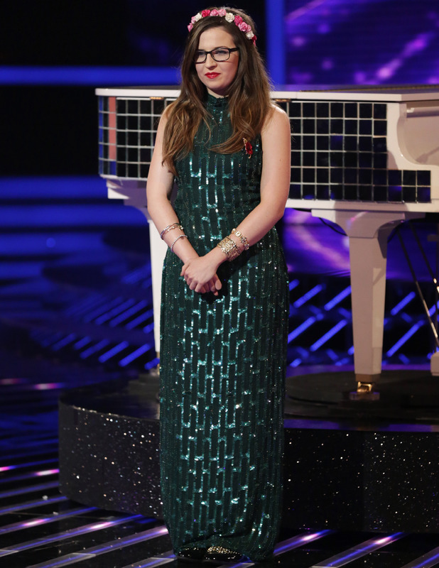Abi Alton performs on The X Factor in London, 2 November 2013