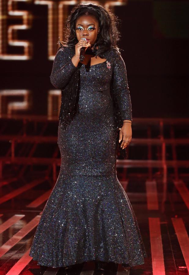 Hannah Barrett performs on The X Factor in London, 2 November 2013