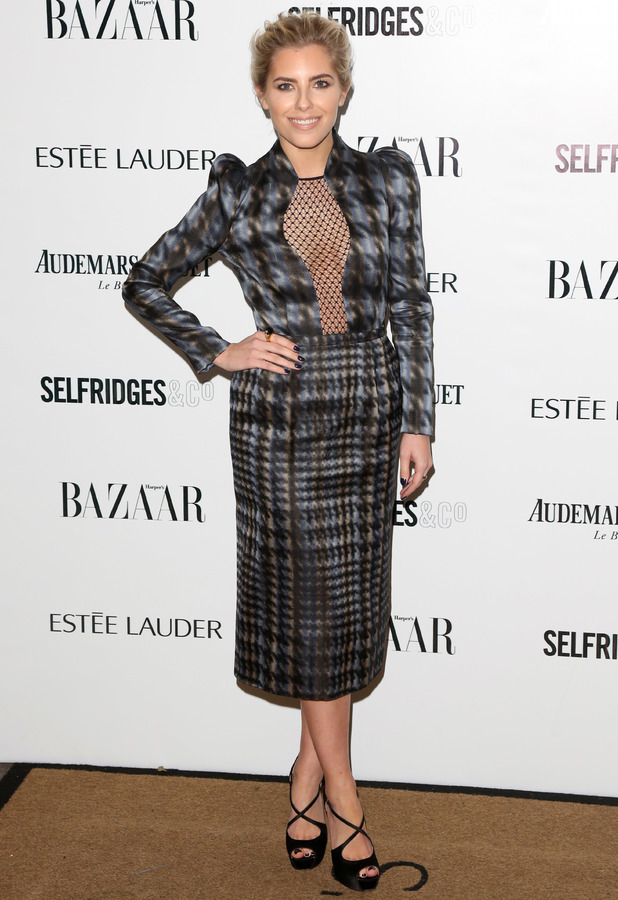 Mollie King attends the Harper's Bazaar Woman of the Year awards in London, 5 November 2013