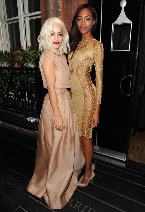 Rita Ora and Jourdan Dunn at the Harpers Bazaar 'Woman of the Year' awards 2013, London, Britain - 05 November 2013