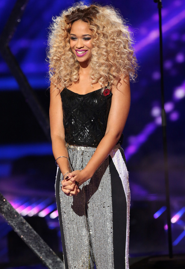 Tamera Foster performing on The X Factor in London - 2 November 2013