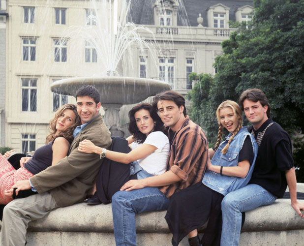 Jennifer Aniston (as Rachel Green), David Schwimmer (as Ross Geller), Courteney Cox (as Monica Geller), Matt LeBlanc (as Joey Tribbiani), Lisa Kudrow (as Phoebe Buffay), Matthew Perry (as Chandler Bing) Friends (NBC) season 1 USA - 1994-1995