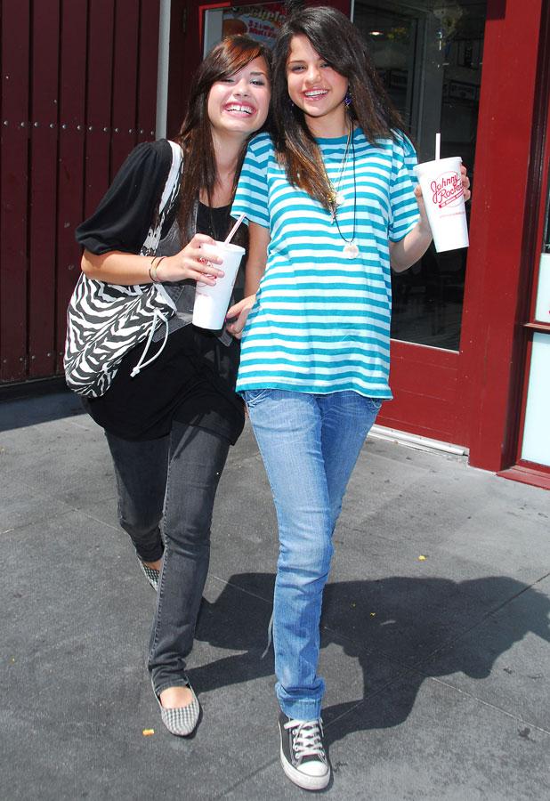 Selena Gomez and Demi Lovato, Los Angeles, America - 22 Aug 2007