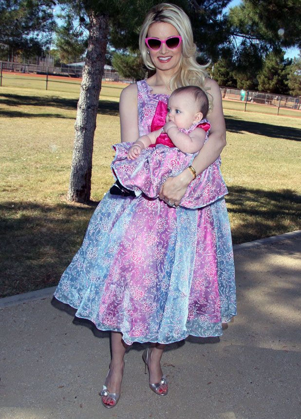 Holly Madison and daughter Rainbow at 'Forever Home Family Picnic' presented by The Animal Foundation Of Las Vegas, 3 November 2013