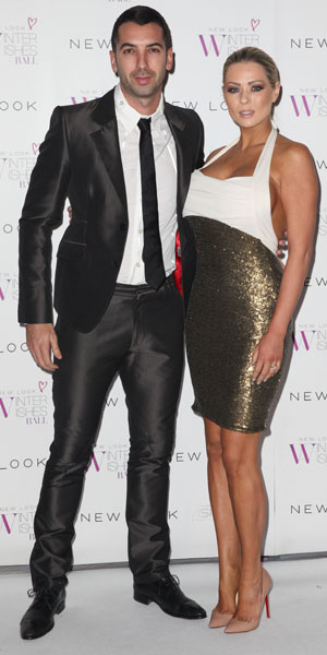 Nicola McLean and husband Tom Williams attend New Look Winter Wishes Charity Ball held at Evolution Battersea, 6 November 2013