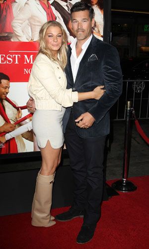 """LeAnn Rimes and Eddie Cibrian, """"The Best Man Holiday"""" - Los Angeles Premiere At TCL Chinese Theatre, 5 November 2013"""