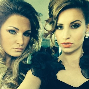TOWIE's Sam Faiers and Ferne McCann on their way to an 80s-inspired bash to celebrate Lewis Bloor's birthday.