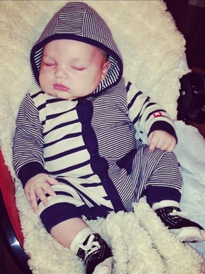 Danielle Lloyd Instagrams a picture of her baby George, Nov 13.