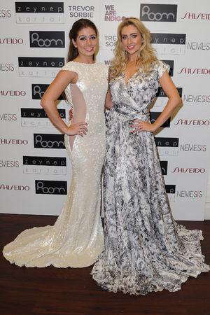 Gemma Merna and Nikki Sanderson model dresses for Zeynap Kartal's Fashion Show, Manchester - 12.11.2013