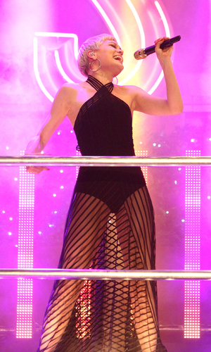 Jessie J, Oxford Street Christmas Lights Switch On at Oxford Street, London, Nov 13.