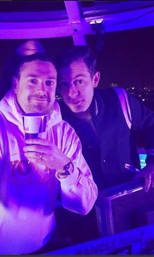 Lily Allen Instagram picture of Mark Ronson on the London Eye, Nov 13
