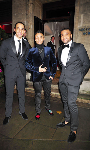 Children in Need dinner at the Grosvenor House Hotel Ballroom, London, Britain - 11 Nov 2013 Marvin Humes, Aston Merrygold and Jonathan Gill 11 Nov 2013