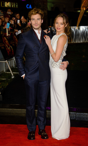 World premiere of 'The Hunger Games: Catching Fire' held at Odeon Leicester Square - Sam Claflin, Laura Haddock 11.11.2013