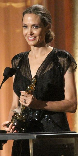 Angelina Jolie receives humanitarian award at Academy Motion Picture Arts and Sciences 5th Annual Governors Awards, Los Angeles - 16 Nov 2013