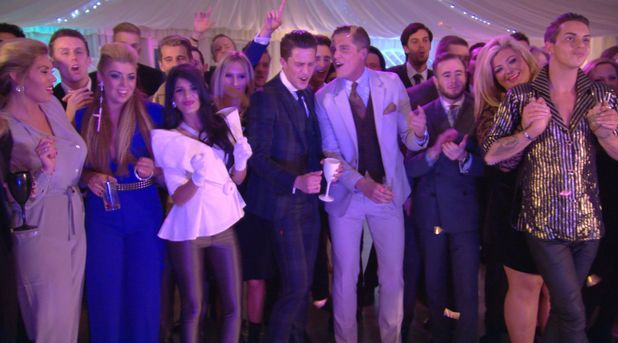 The Only Way Is Essex - TOWIE Lewis Bloor attends his 80s themed birthday party with Frankie Essex, Jasmin Walia, Gemma Collins, Bobby Norris (Episode: Wednesday 13 November 2013)