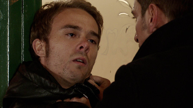 Corrie, David fights Peter, Sun 17 Nov