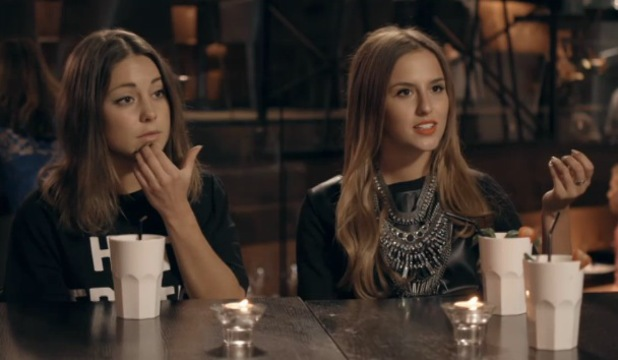 Louise Thompson and Lucy Watson meet up with Stephanie Pratt on Made In Chelsea - 11.11.2013