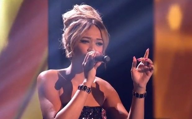 Tamera Foster sings on The X Factor (9 November) during Big Band week.
