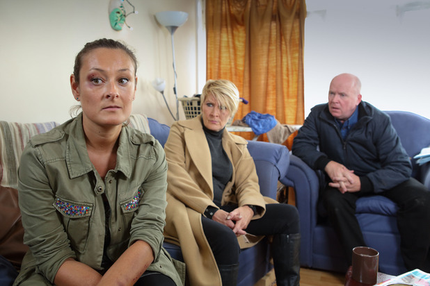 EastEnders, Phil finds Shirley with Tina, Mon 18 Nov