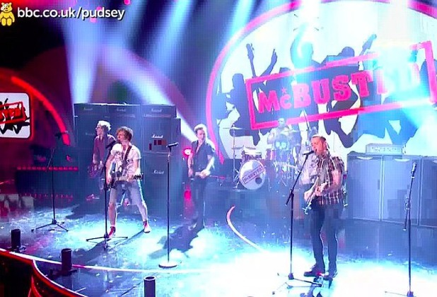McBusted perform on Children In Need 2013 for the first time since forming as a supergroup, November 15 2013