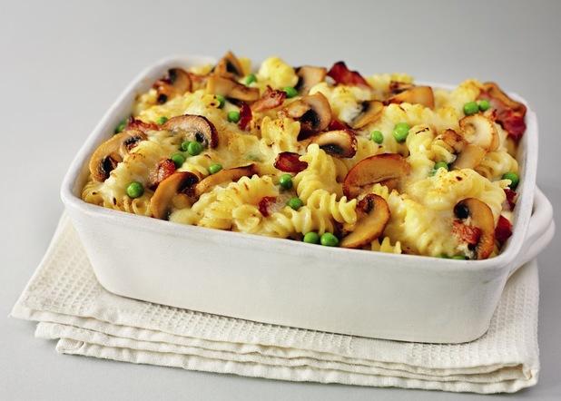 Nadia Sawalha's recipe for creamy mushroom & bacon pasta bake ...