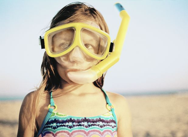Snorkelling was just one of the Meek girls' activities