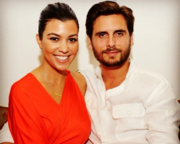 Kourtney Kardashian Instagrams a snap of her and Scott Disick on their Dominican Republic holiday, Nov 13.