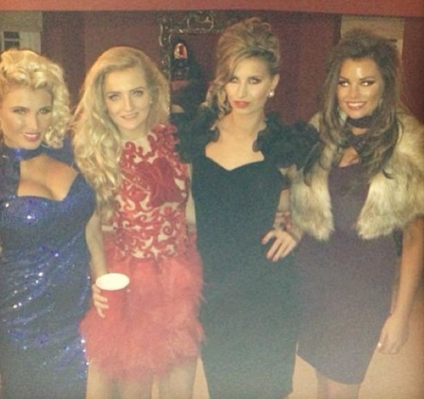TOWIE's Billie Faiers, Ferne McCann and Jessica Wight at Lewis Bloor's 80s-inspired birthday bash.
