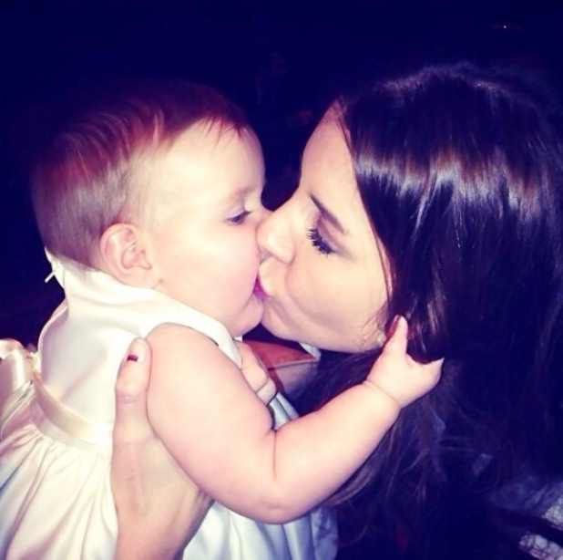 Imogen Thomas celebrates daughter Ariana's christening with family and friends - 10.11.2013