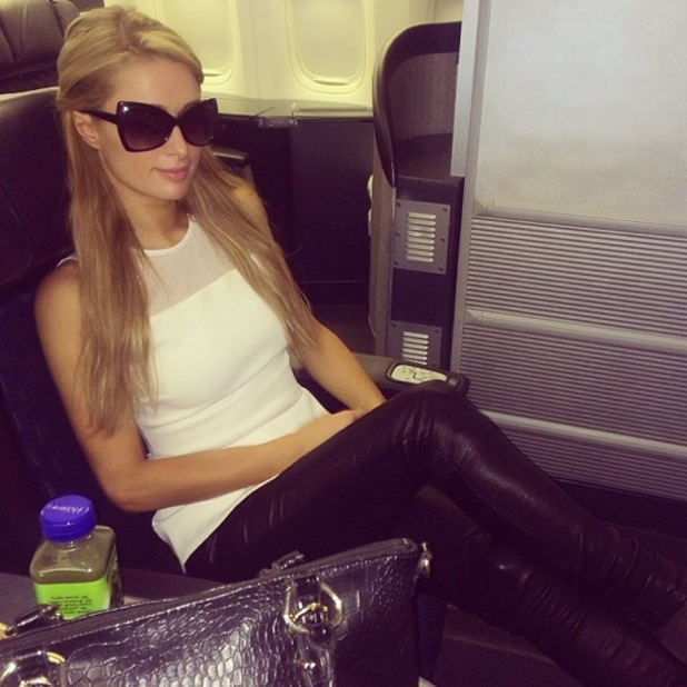 Paris Hilton takes an Instagram picture at LAX Airport, Los Angeles - 14 November 2013