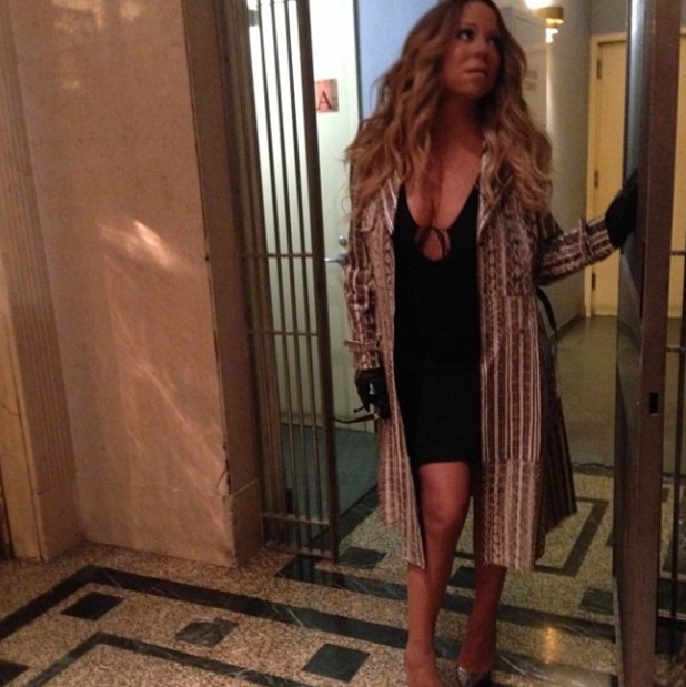 Mariah Carey wearing black dress, New York, America - 12 Nov 2013
