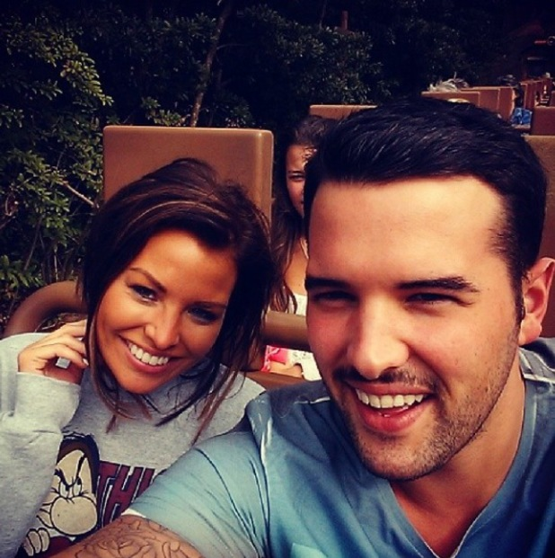 TOWIE's Ricky Rayment and Jess Wright have fun in Florida with Ricky's parents - 13.11.2013