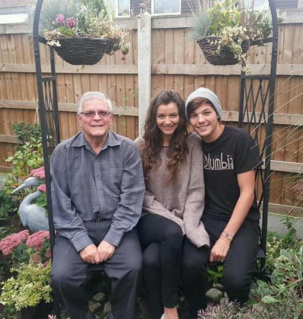 Louis Tomlinson hangs out with his grandad Keith Tomlinson and girlfriend Eleanor Calder - 11.11.2013