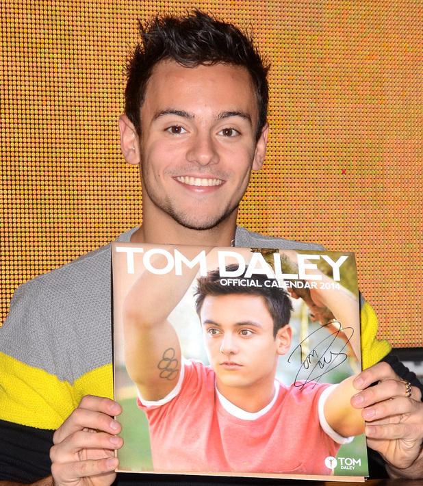Tom Daley Calendar Signing at HMV Oxford Street, Nov 13.