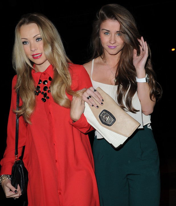 Brooke Vincent arrives with friends at Sakura Night Club Manchester for Eivissa's 4th Birthday Party, Nov 13.