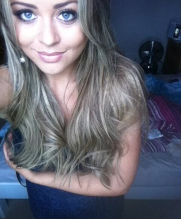 Emily Atack Tweets a picture of her hair extensions, 8.11.13