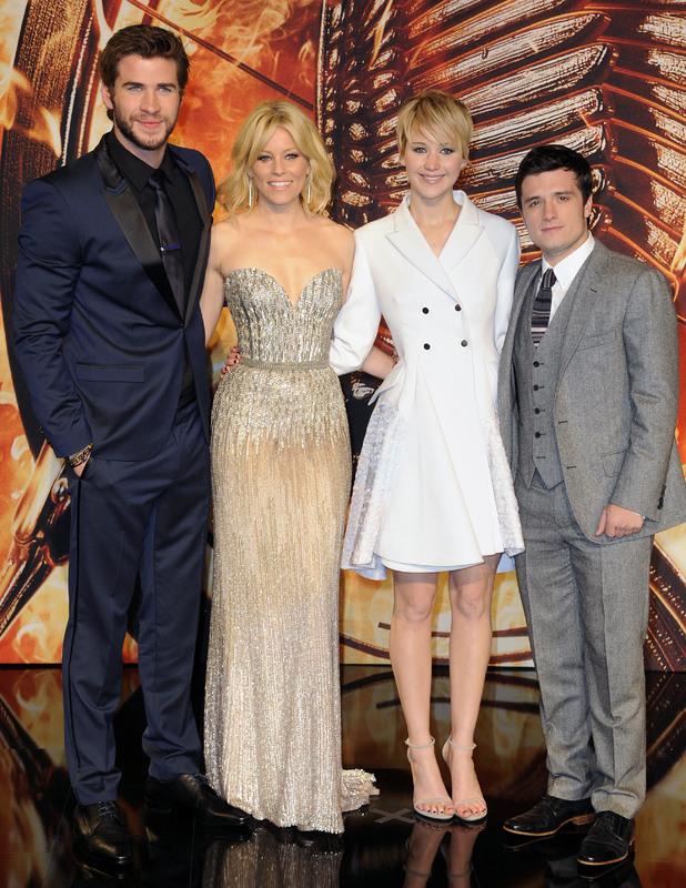 Jennifer Lawrence, Liam Hemsworth, Elizabeth Banks, Josh Hutcherson - The Hunger Games: Catching Fire premiere in Berlin, Germany: 12 November 2013
